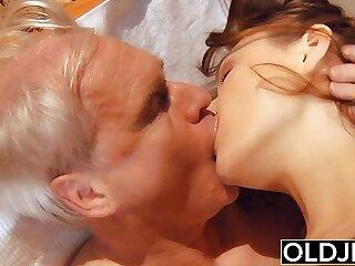 blowjob cumshot facial fucking grandpa hardcore