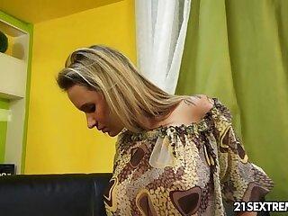 babe blonde brunette car dildo european