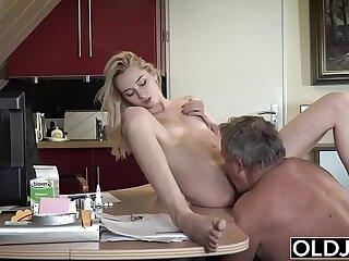 blowjob cumshot dick doggystyle girls grandpa