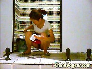asian oiled pissing toilet voyeur