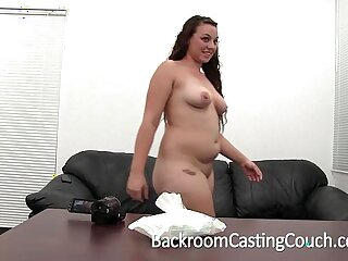 big blowjob brunette casting creampie first time