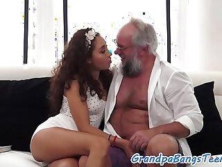 amateur babe european facial grandpa old