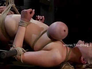 bdsm big blonde bondage deepthroat extreme