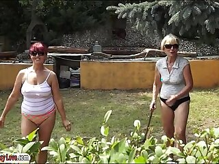 ass big foursome granny lesbian mature