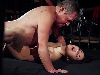 blowjob brunette cute dick fetish grandpa
