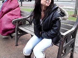 british brunette girls outdoor pissing public