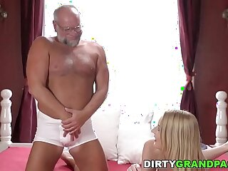 daddy dick grandpa old old and young pussy