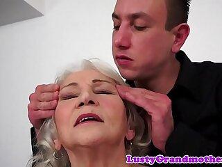 amateur big big cock blowjob european granny