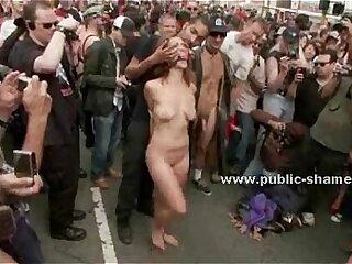 bondage deepthroat extreme group sex public rough