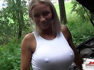 amateur blowjob creampie high definition public