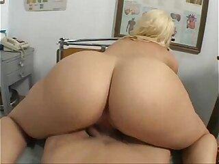 ass big blonde blowjob cumshot doctor