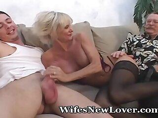 blonde blowjob cumshot facial family mature