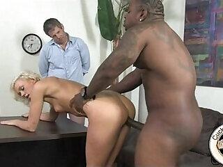 bdsm blonde cuckold interracial old