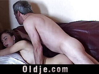girls grandpa old old and young
