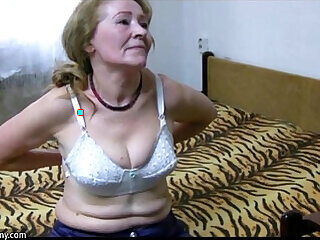 compilation granny mature old old and young stripping