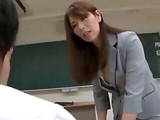 asian mature student teacher