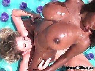 cumshot gangbang hardcore interracial lesbian milf