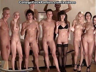 amateur college group sex orgy party reality
