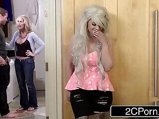 big big cock blonde blowjob boobs busty teen