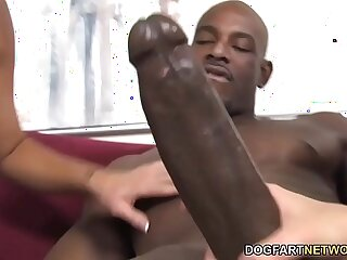 bbc big black blowjob cougar creampie