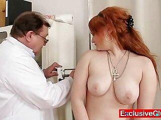 bizarre close up doctor gaping redhead weird