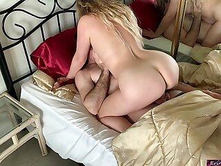amateur big blonde boobs chubby facial