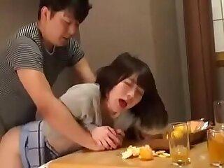 amateur asian creampie japanese milf oiled