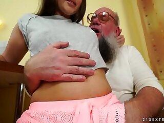 ass brunette european fetish grandpa natural