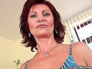 cougar granny high definition masturbating mature mother