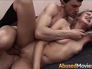 aggressive anal blonde brutal creampie cumshot