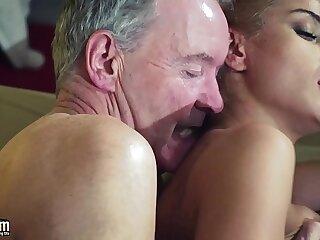 babe cumshot domination femdom fucking grandpa