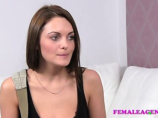 amazing boobs brunette casting domination fingering